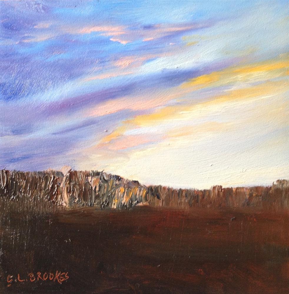 """Ridge Line Sunrise"" original fine art by Claudia L Brookes"
