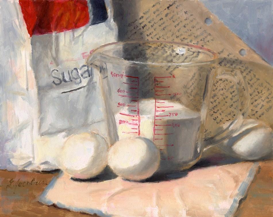 """Secret Recipe"" original fine art by Linda Jacobus"