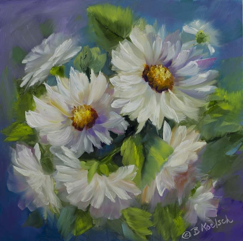 """""""Dipsy Daisies"""" original fine art by Bobbie Koelsch"""