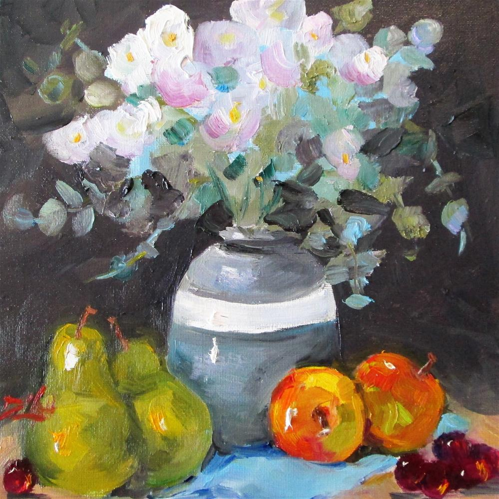 """Flowers and Fruit"" original fine art by Delilah Smith"