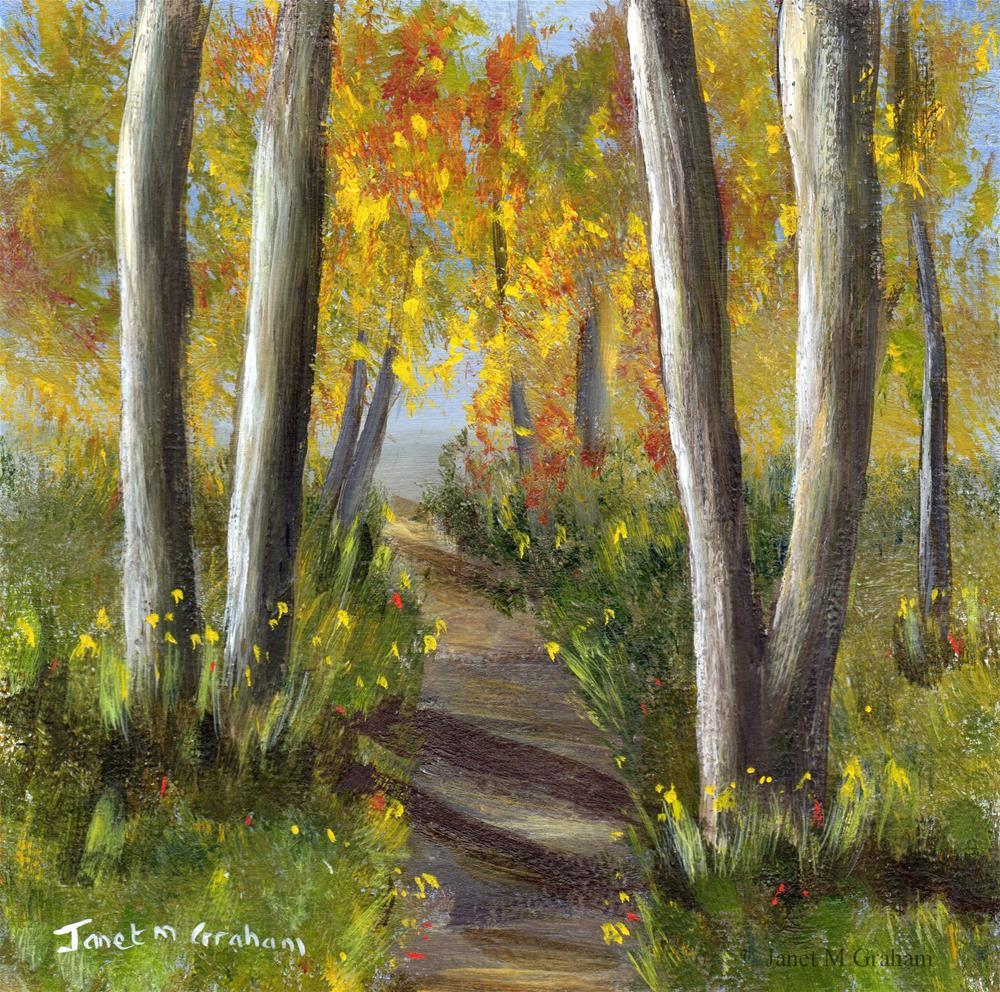 """Woodland Trail"" original fine art by Janet Graham"
