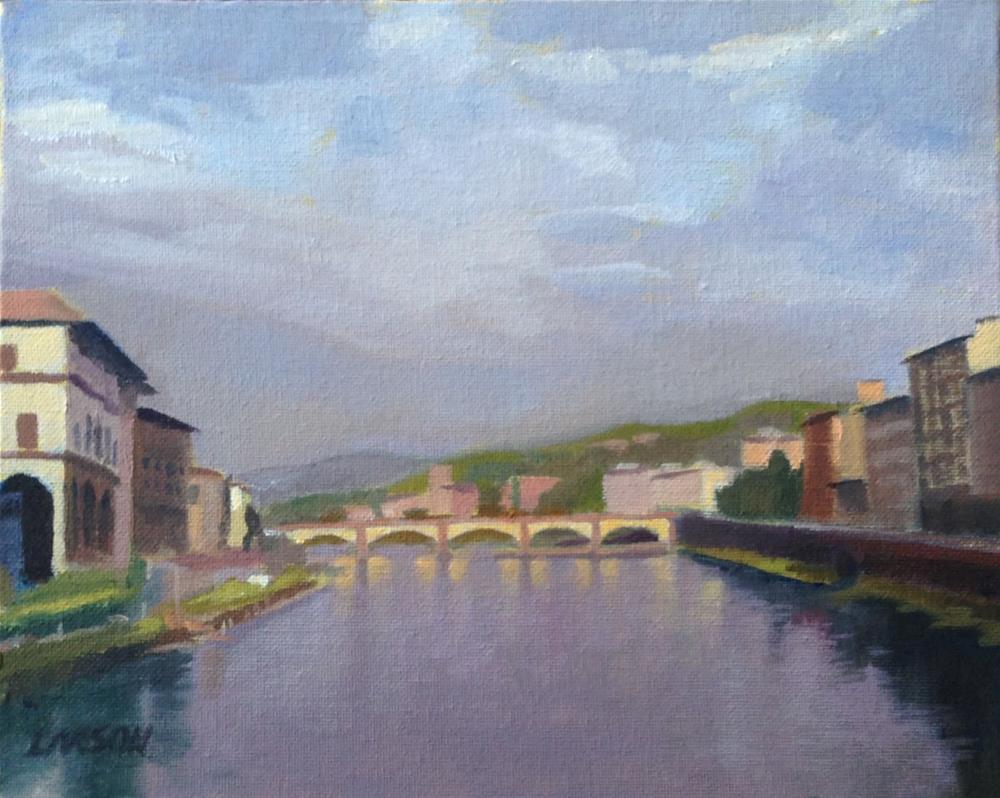 """Florentine Banks"" original fine art by Eric Larson"