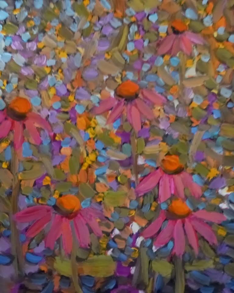 """DP12 CONEFLOWER PATTERNS"" original fine art by Dee Sanchez"