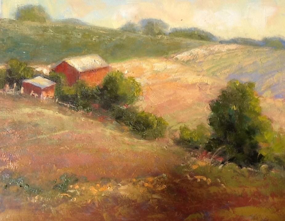 """""""Plowed Fields"""" original fine art by Jean Fitzgerald"""