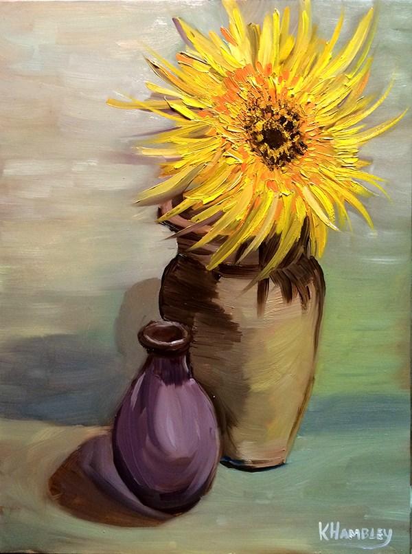 """Last Flower Standing"" original fine art by Katherine Hambley"