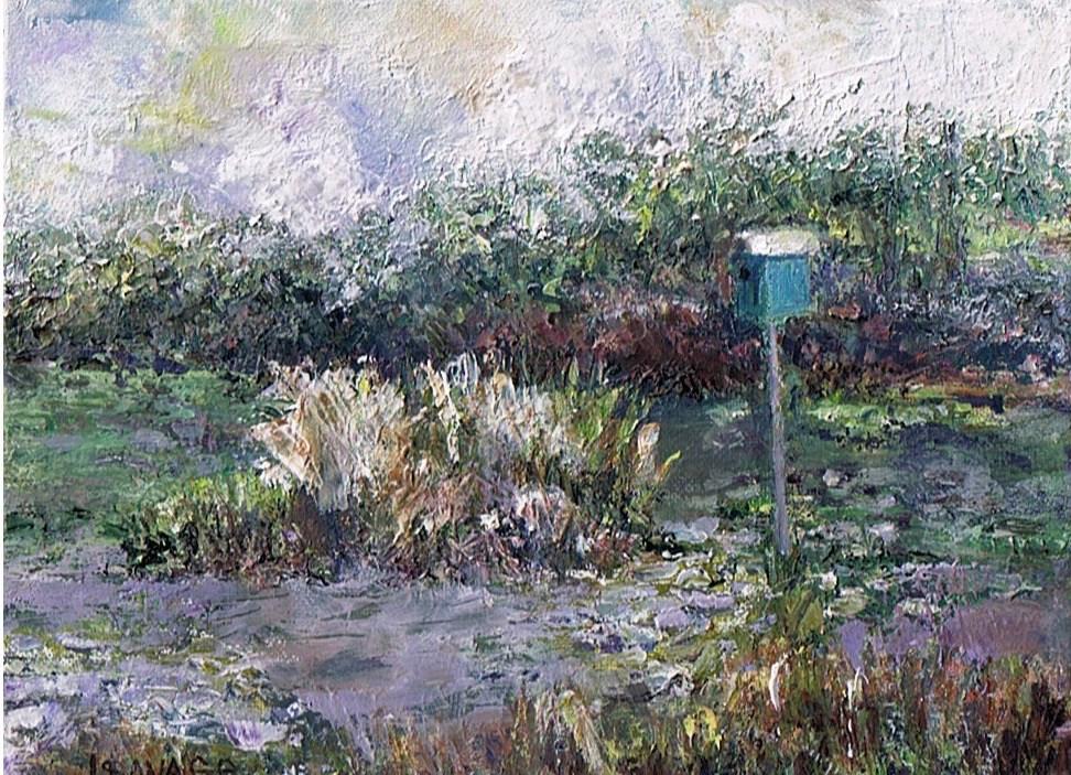 """Anyone Home?"" original fine art by Judy Usavage"