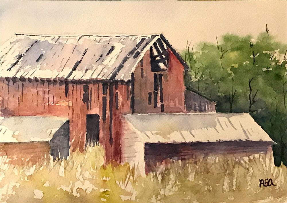 """broken down barn"" original fine art by Betty Argiros"