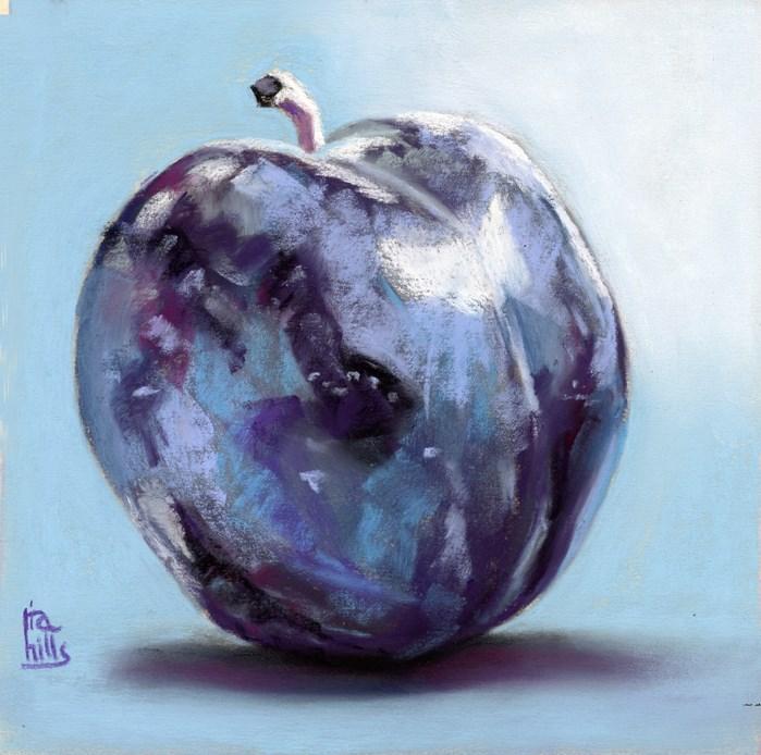 """""""Blue Plum"""" original fine art by Ria Hills"""