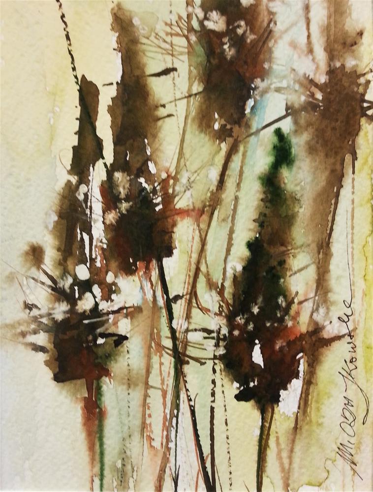 """Plantain 4"" original fine art by Marlena Czajkowska"