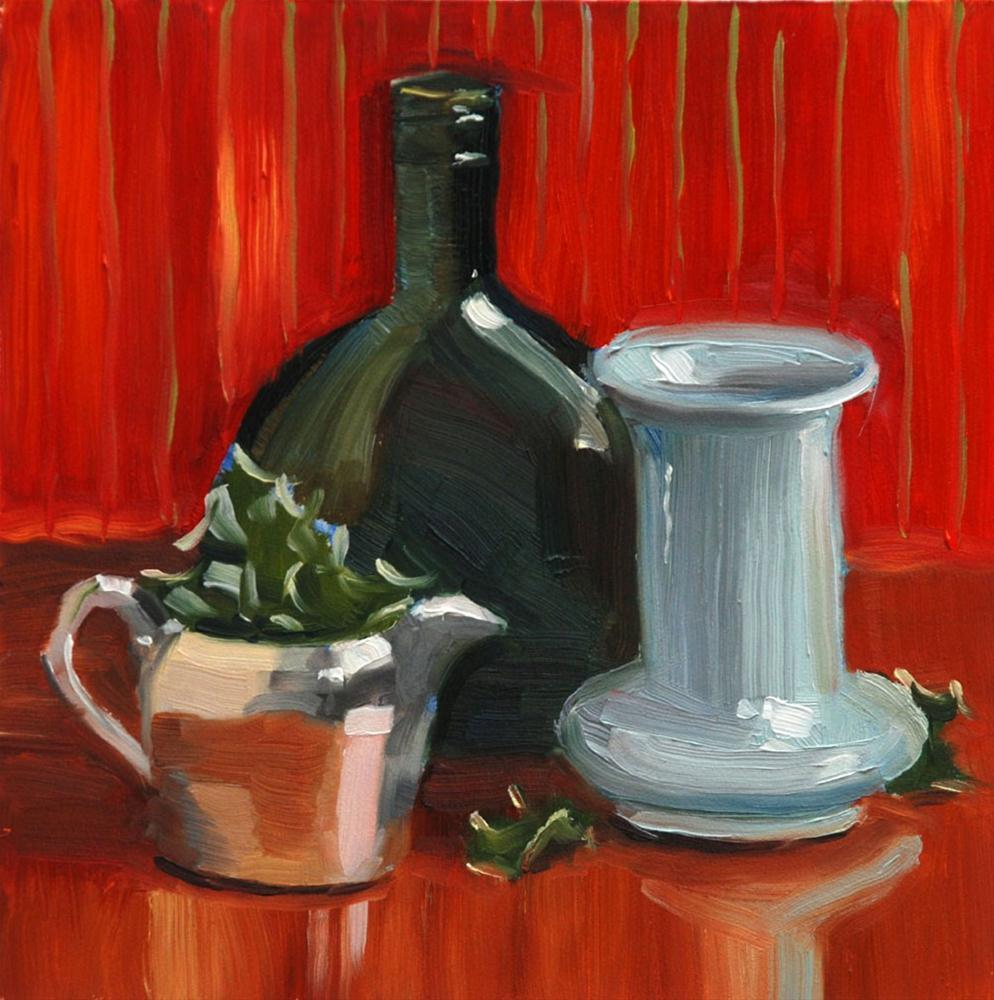 """Red and Green Still Life"" original fine art by Susan McManamen"
