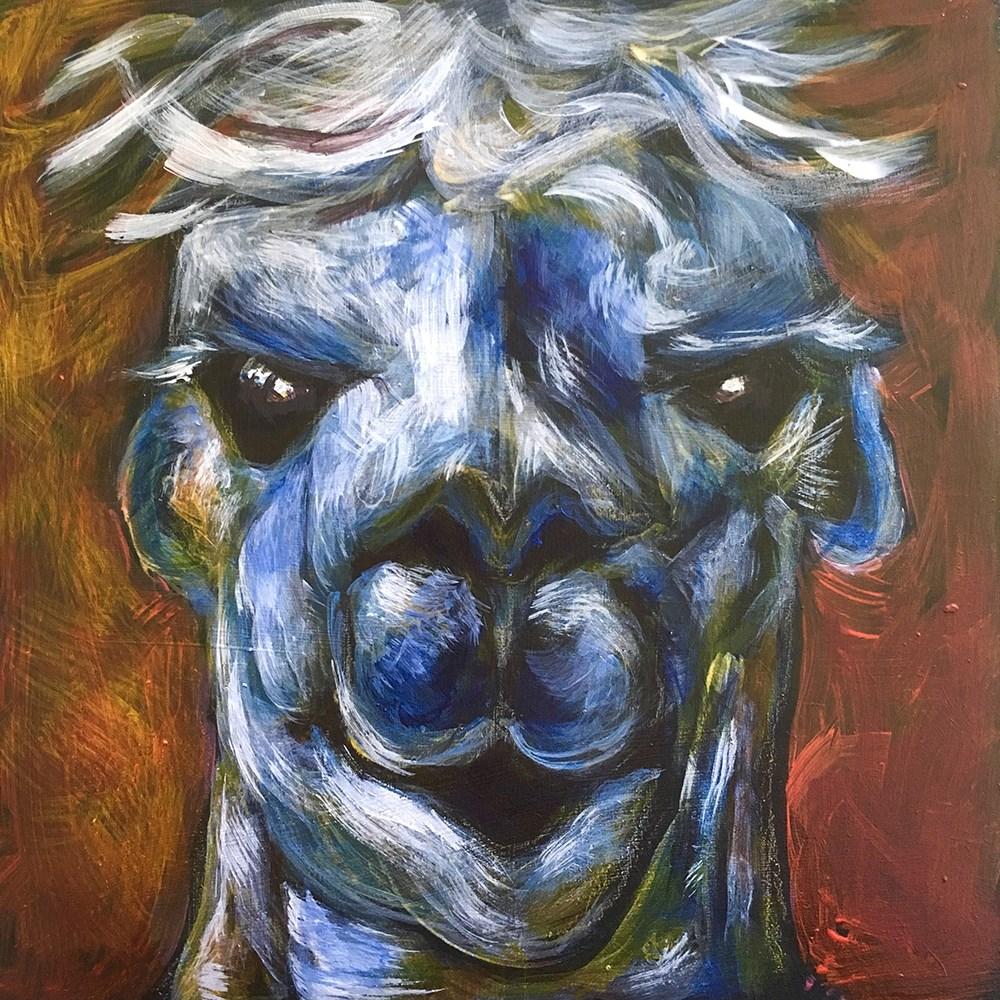 """Alpaca - SOLD"" original fine art by Colleen OHair"