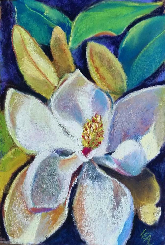 """Monday Magnolia"" original fine art by Anna Lisa Leal"