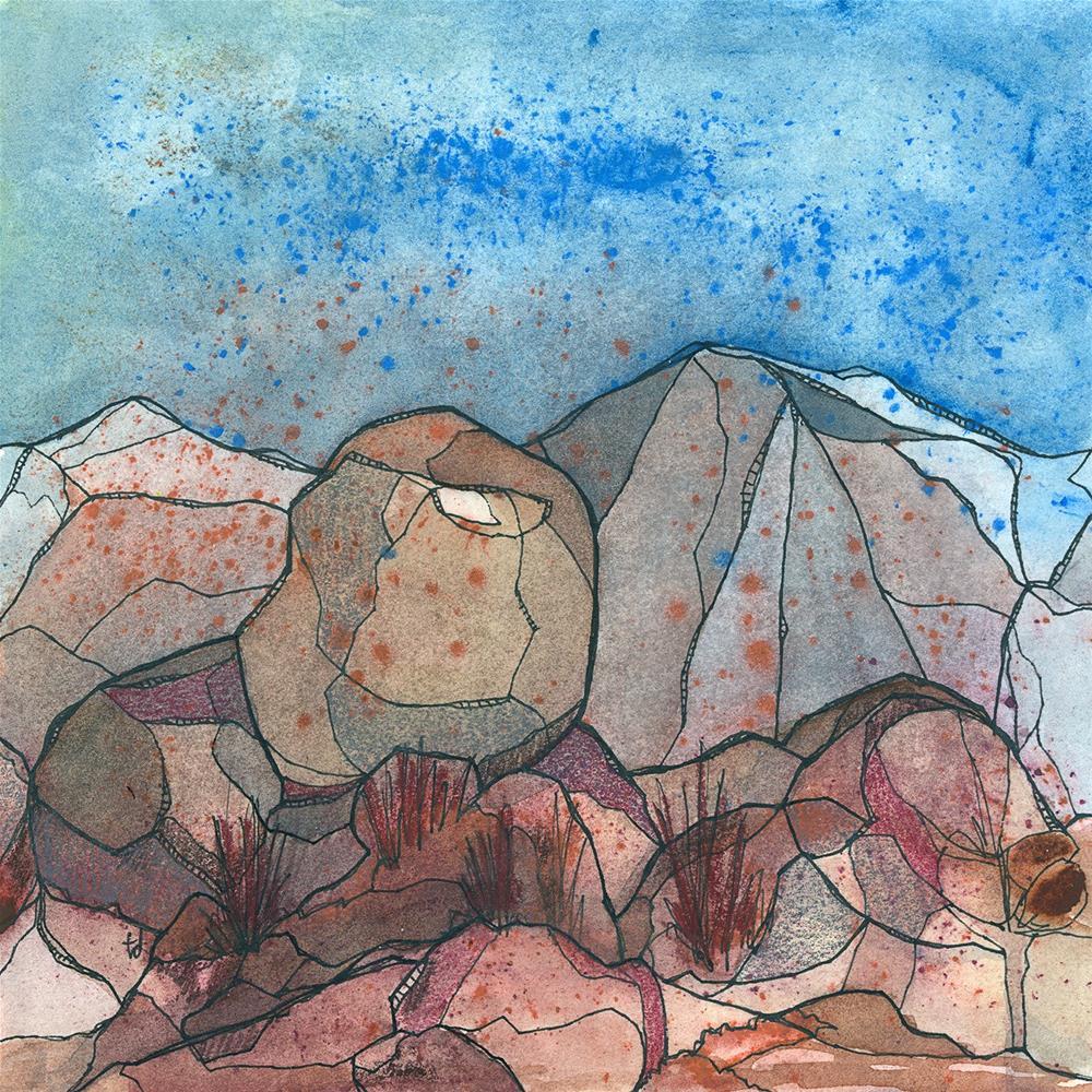 """The Rockpile"" original fine art by Tonya Doughty"