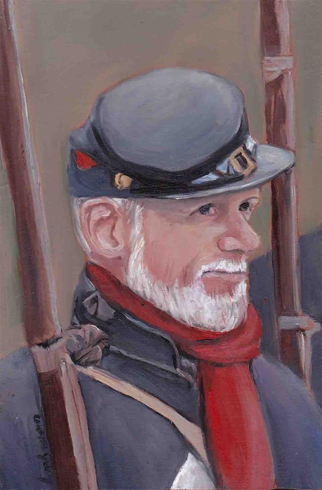 """Civil War Re-enactor"" original fine art by Charlotte Yealey"