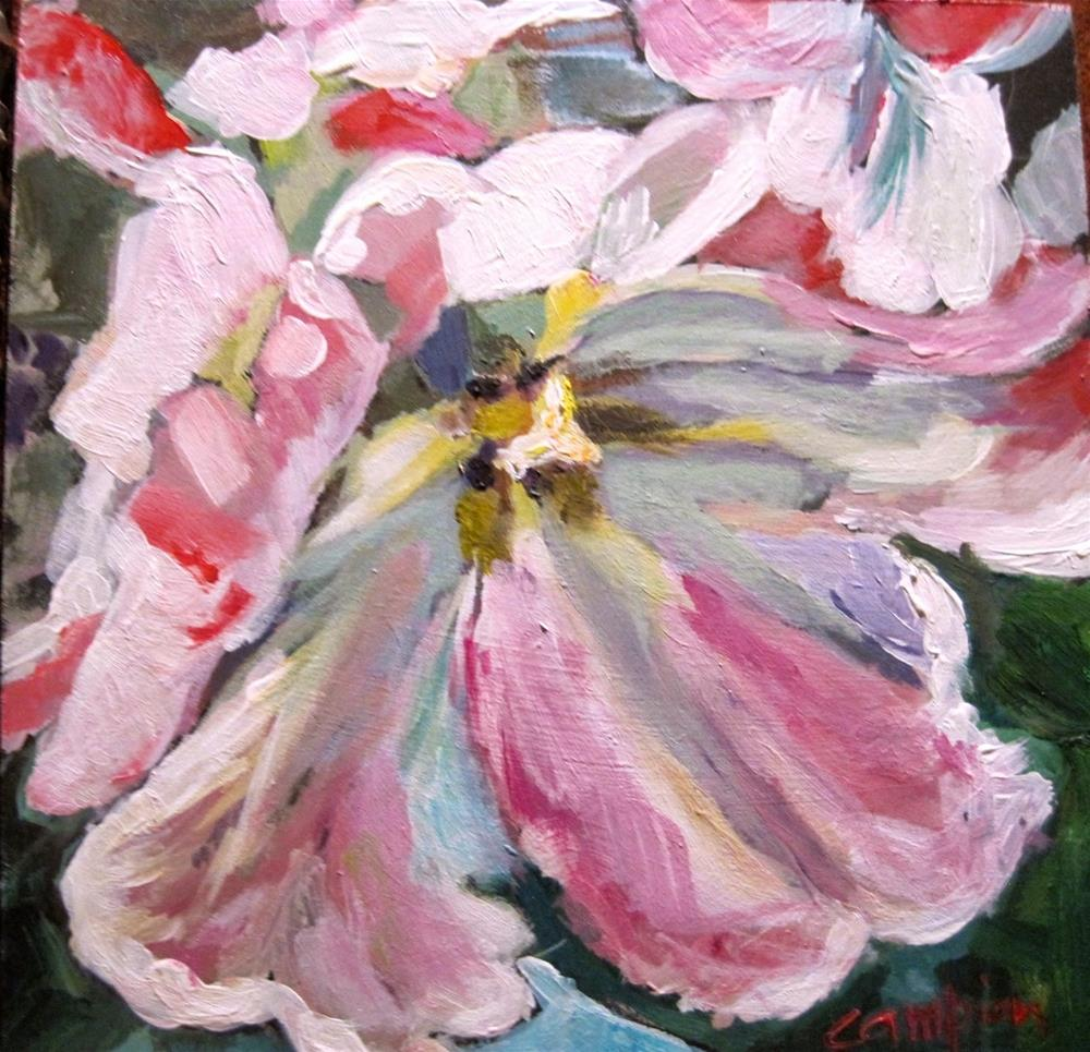 """360 Parrot Tulip"" original fine art by Diane Campion"