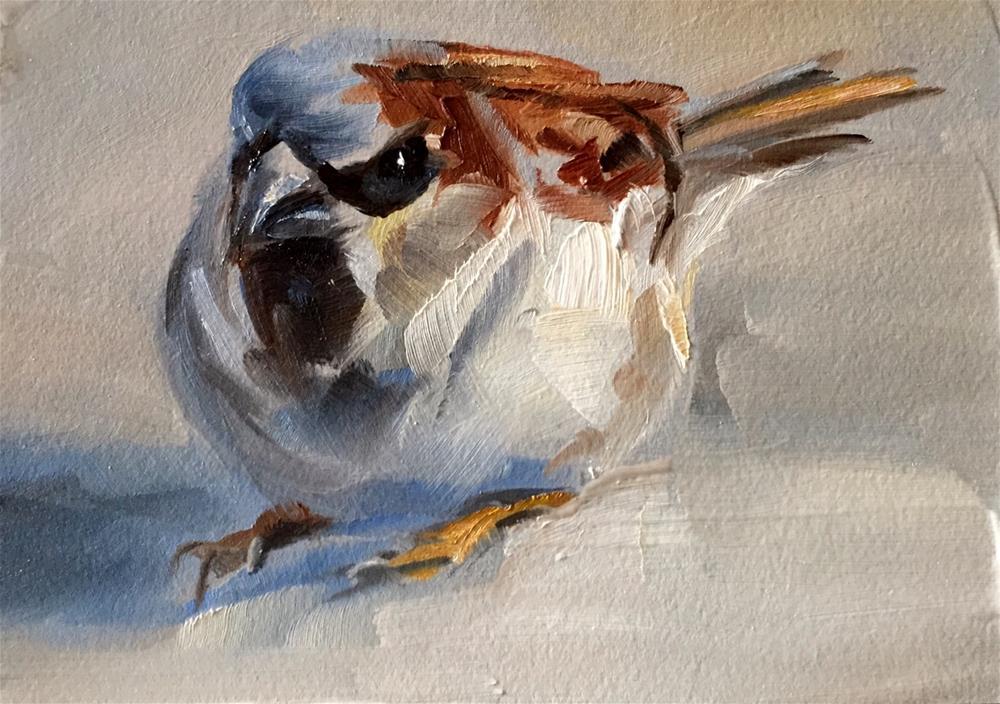 """""""Resting Sparrow"""" original fine art by Gary Bruton"""