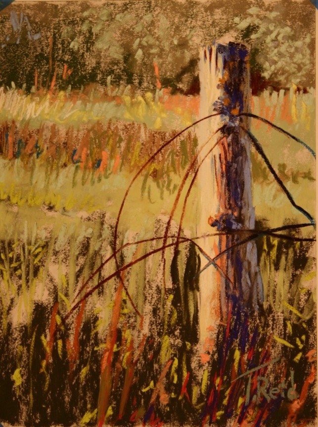 """Fence Down"" original fine art by Toby Reid"