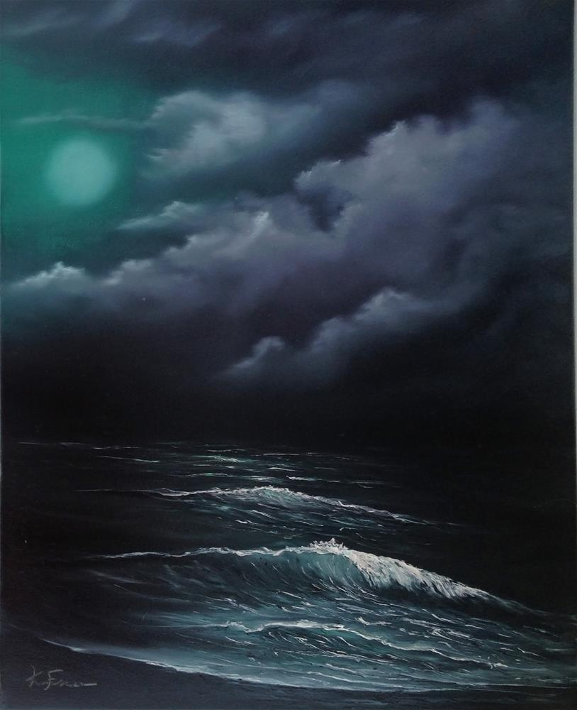 """Then Cometh A Storm III"" original fine art by Ken Fraser"