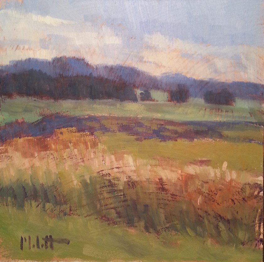 """Landscape Oil Painting Midwest Hike Late Summer"" original fine art by Heidi Malott"