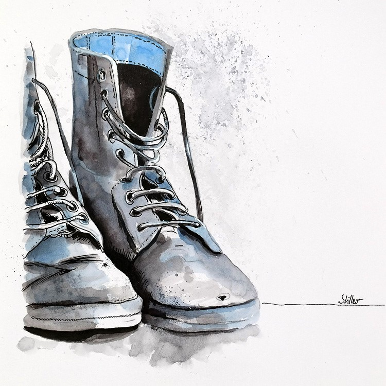 """""""3386 Pairs Three"""" original fine art by Dietmar Stiller"""