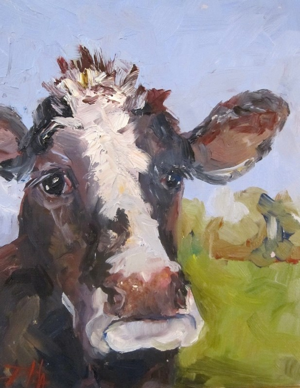 """Cow No. 6"" original fine art by Delilah Smith"