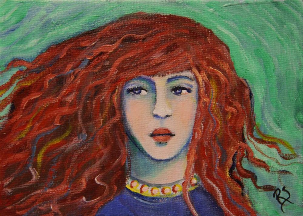 """""""Felicity"""" original fine art by Roberta Schmidt ArtcyLucy"""