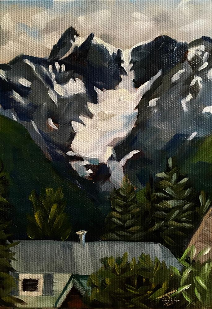 """Glacier View "" original fine art by Bobbie Cook"