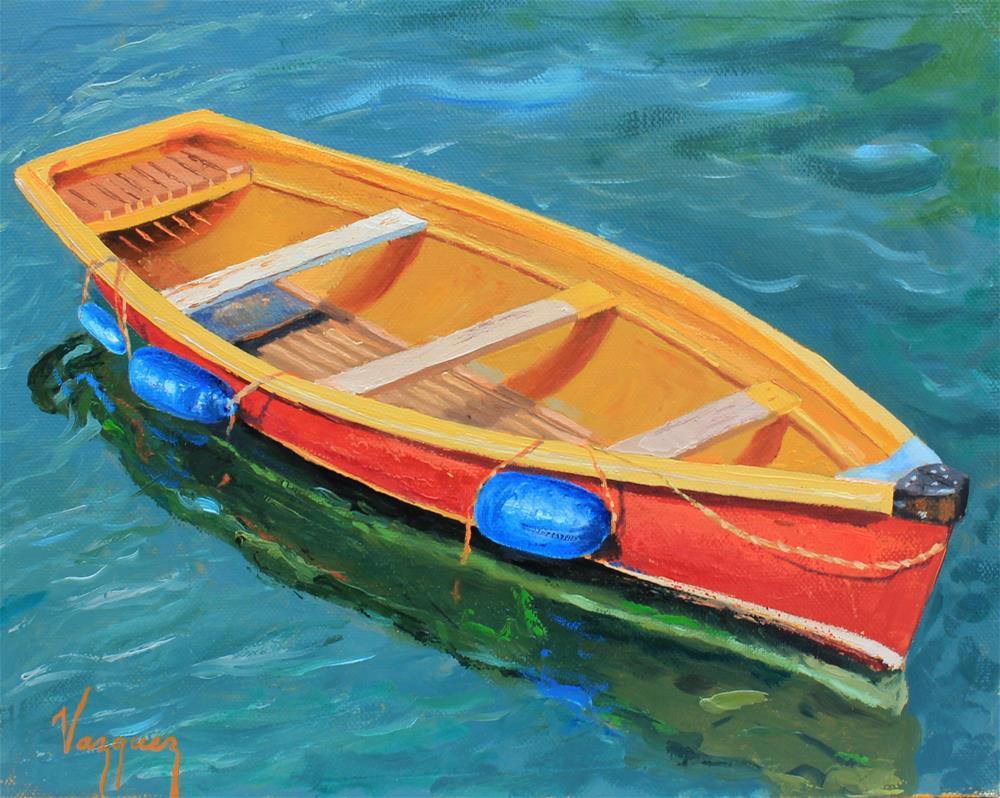 """Empty boat"" original fine art by Marco Vazquez"