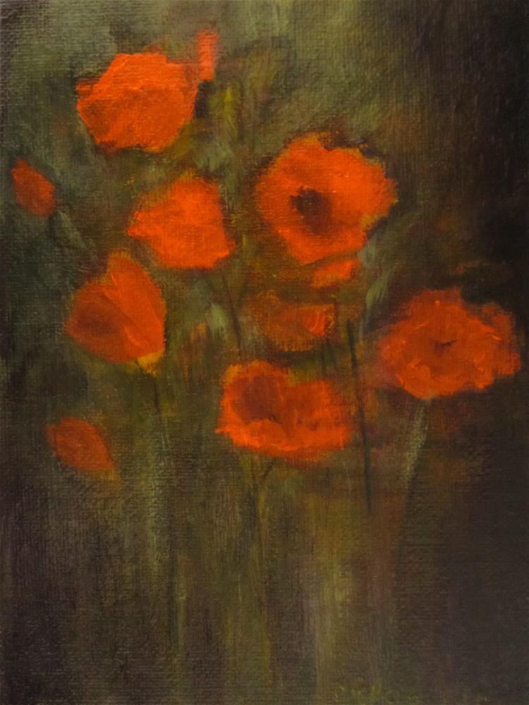 """Orange Poppies"" original fine art by christina glaser"