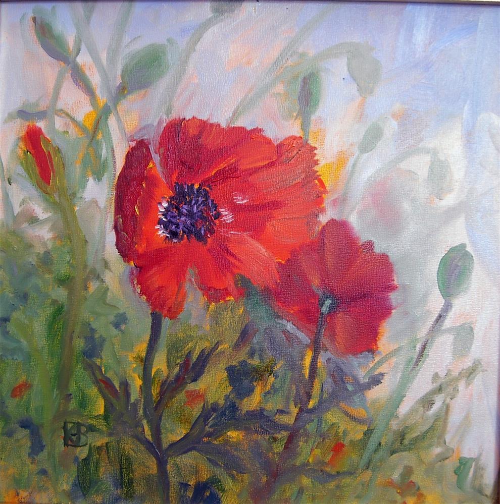 """""""Augusta Poppies"""" original fine art by Kathleen Barnes"""