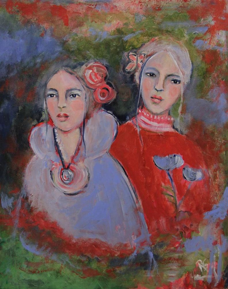 """Sisters and Friends"" original fine art by Roberta Schmidt"