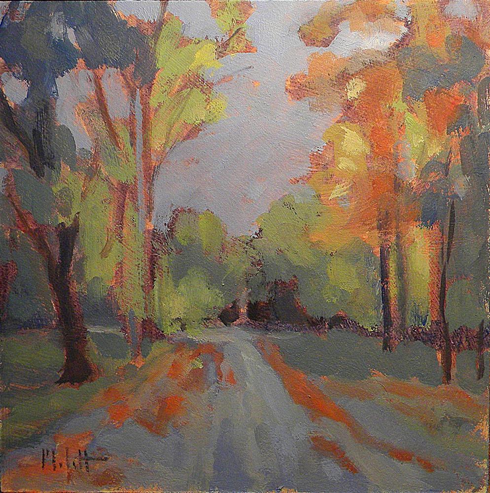 """Early October Morning Autumn Landscape Painting Impressionism"" original fine art by Heidi Malott"