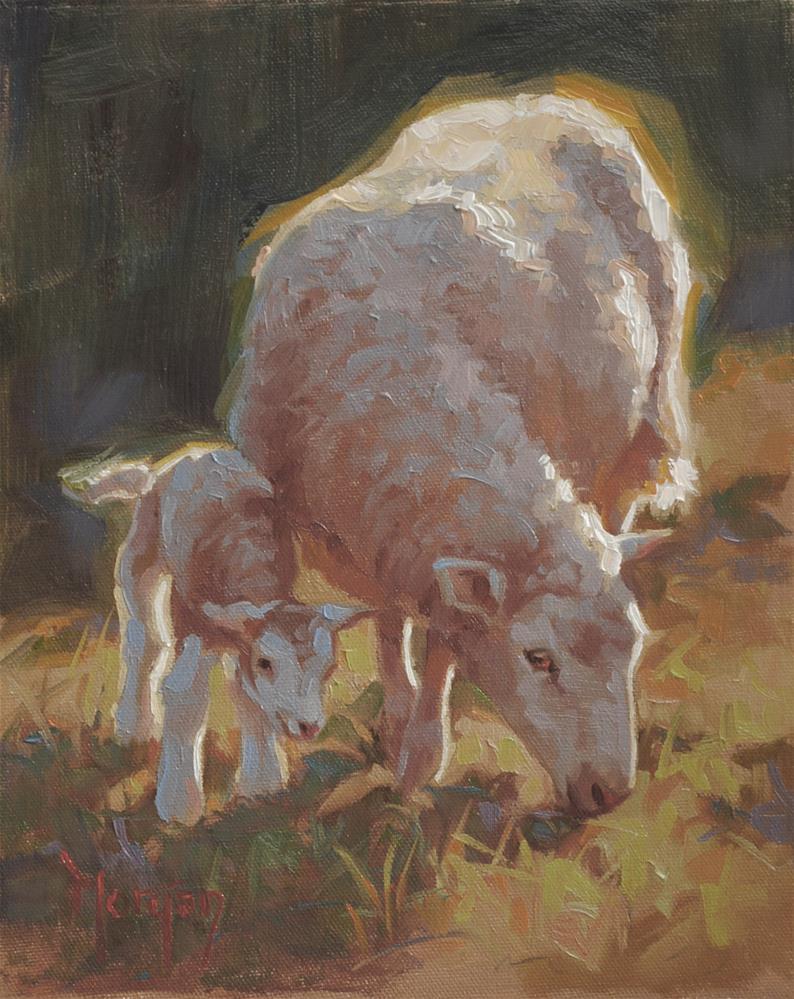 """""""The Newcomer"""" original fine art by Cecile W. Morgan"""