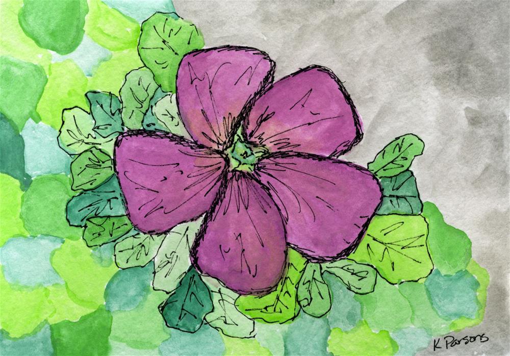 """Solitary Pink"" original fine art by Kali Parsons"