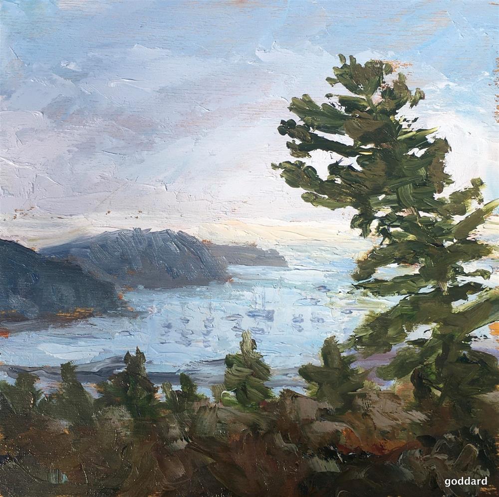 """One Foggy Morning in Maine"" original fine art by Shari Goddard Shambaugh"