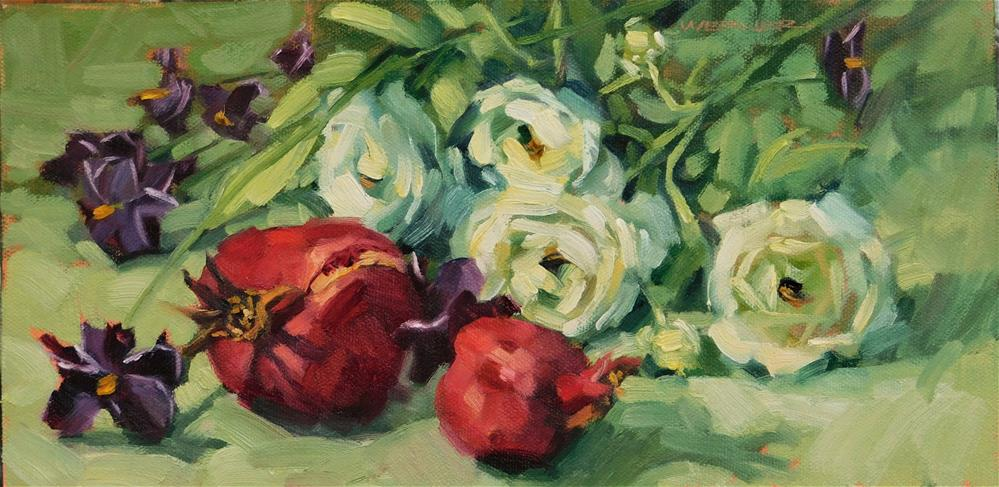"""Flowers & Poms"" original fine art by Karen Werner"
