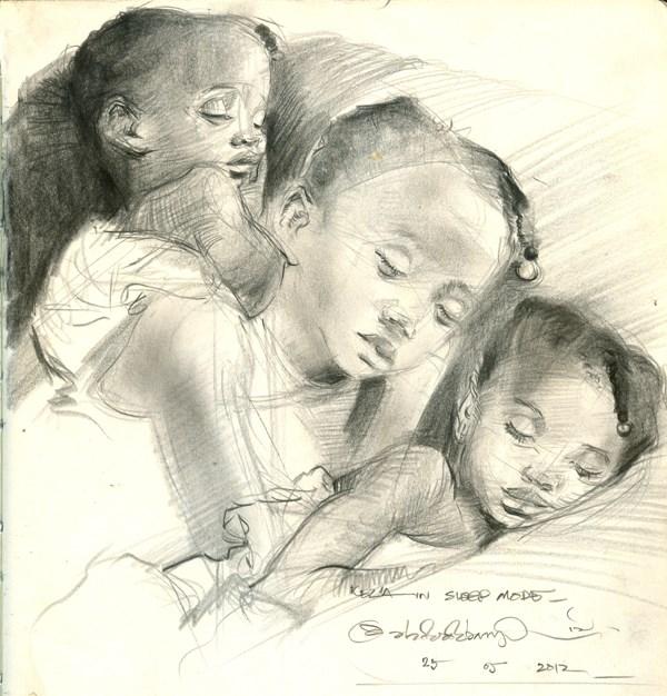 """Kids, Life, Art and Stuff 8"" original fine art by Adebanji Alade"