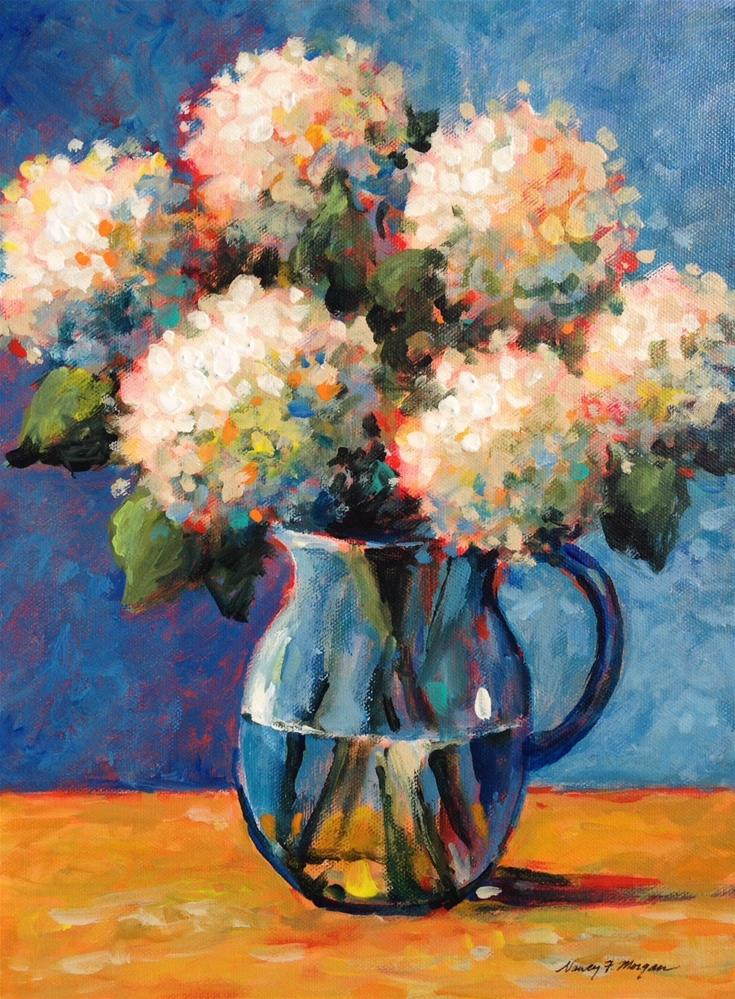 """Snowy Blossoms"" original fine art by Nancy F. Morgan"