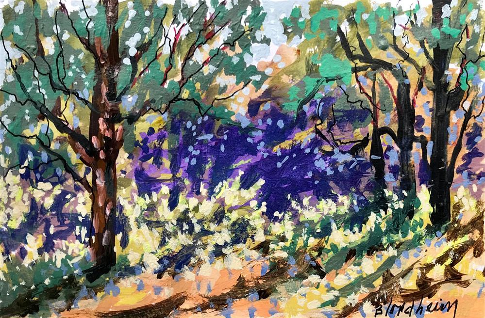 """""""Spring Woods"""" original fine art by Linda Blondheim"""
