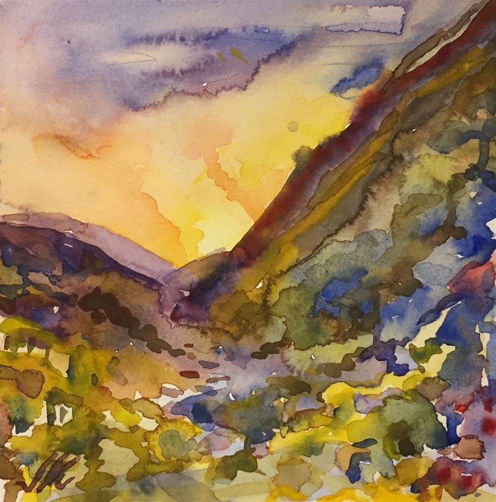 """Himalayas of India"" original fine art by Jean Krueger"