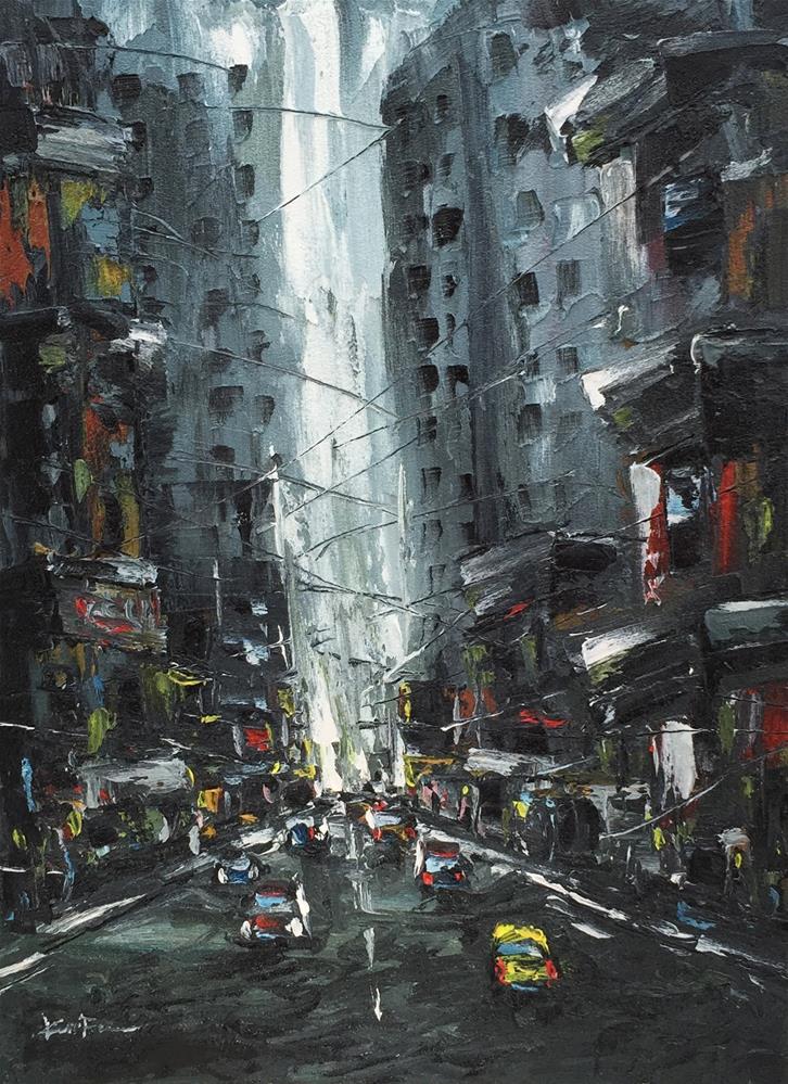 """Busy Morning"" original fine art by Ken Fraser"