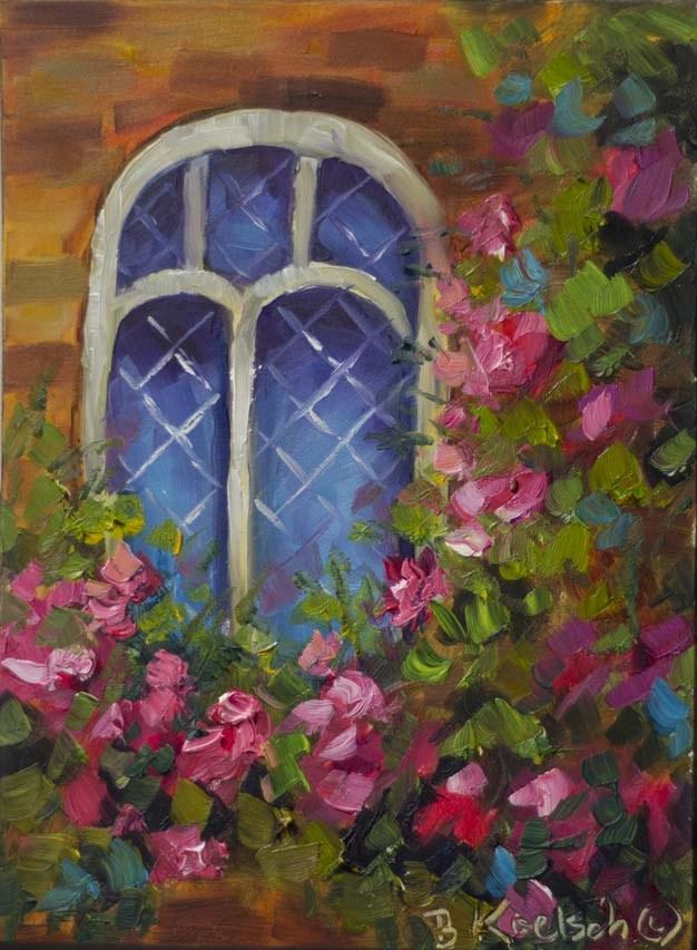 """""""Cottage Window"""" original fine art by Bobbie Koelsch"""
