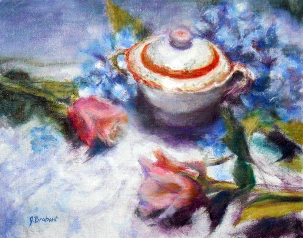 """Sugar Bowl And Blooms"" original fine art by Jill Brabant"