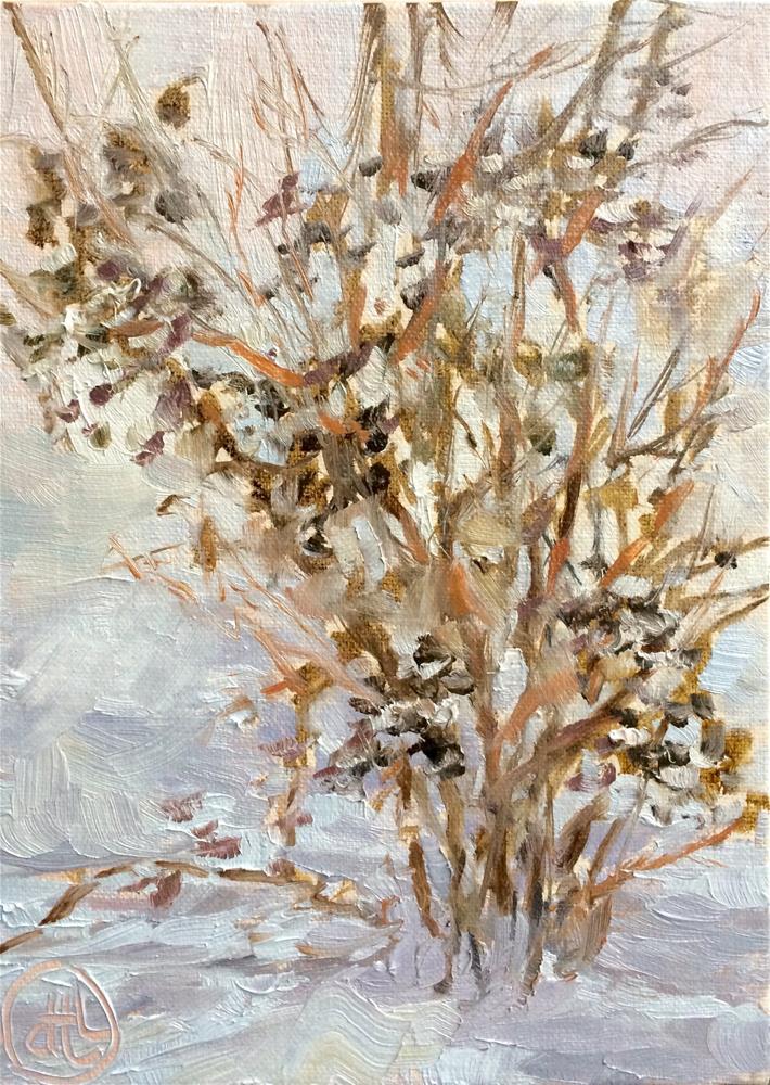 """""""snow before breakfast"""" original fine art by Dottie  T  Leatherwood"""