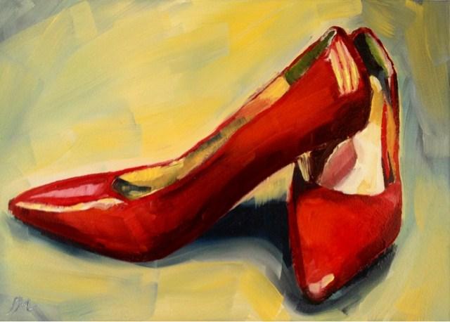 """When in doubt, wear Red"" original fine art by Piya Samant"