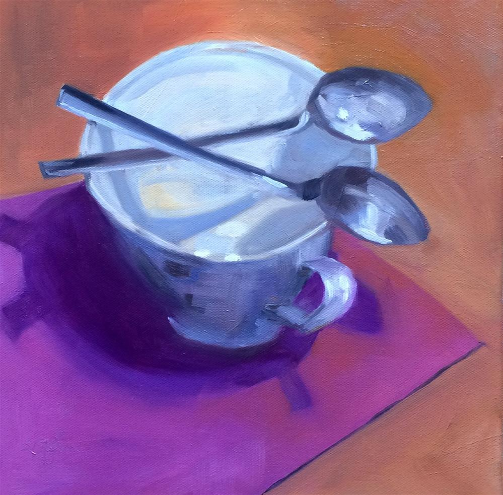 """""""S - is for X-ing Spoons"""" original fine art by Suzanne Gysin"""