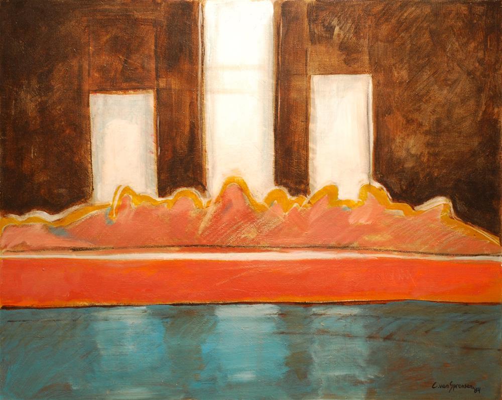 """The Last Supper"" original fine art by Cornelis vanSpronsen"