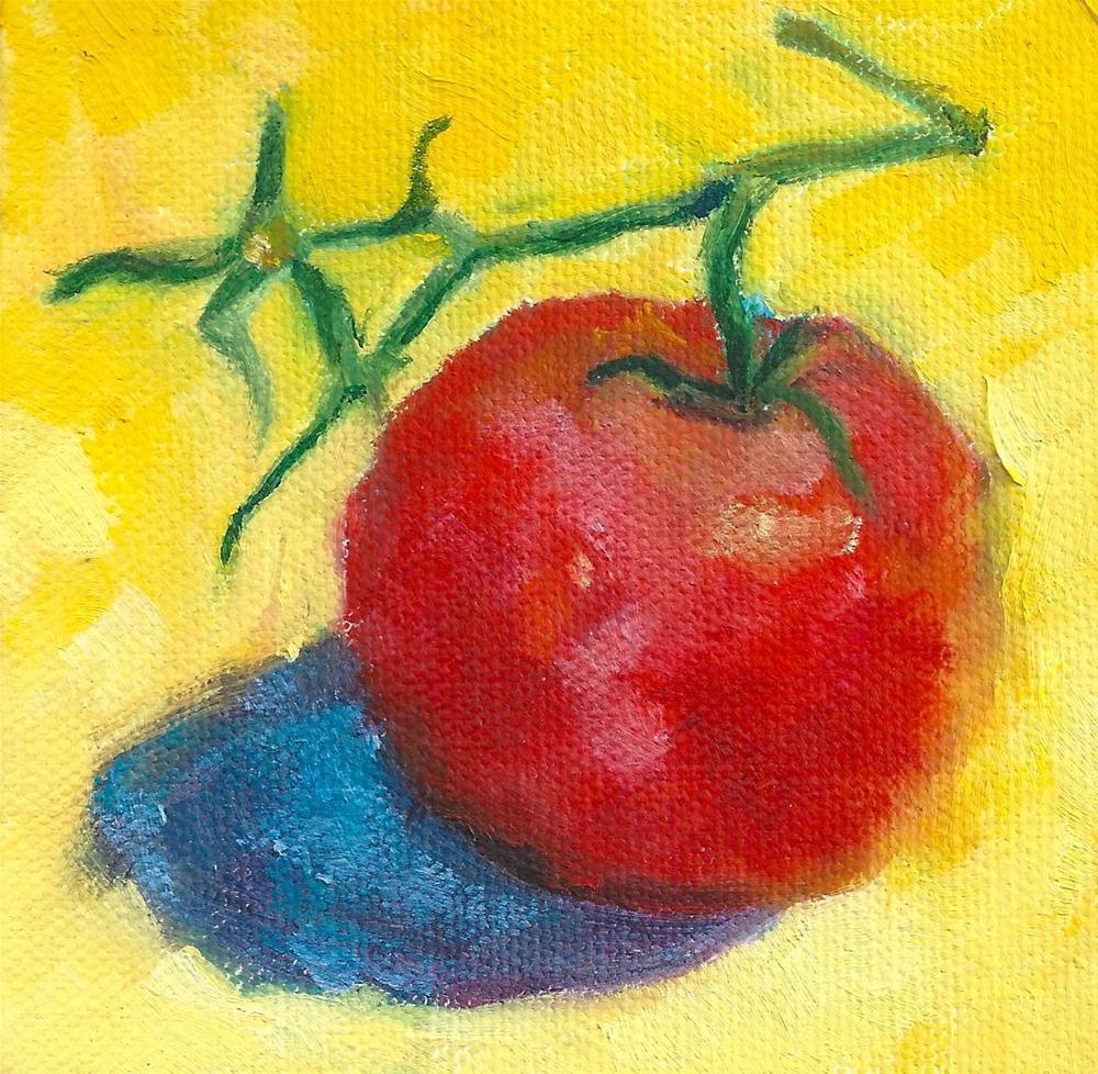 """Red Vine Tomato"" original fine art by Marlene Lee"