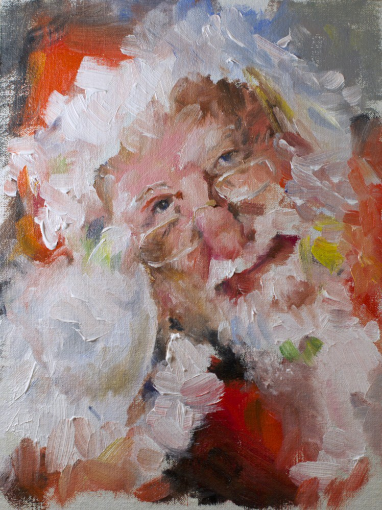 """Ho Ho #1"" original fine art by Sue Churchgrant"