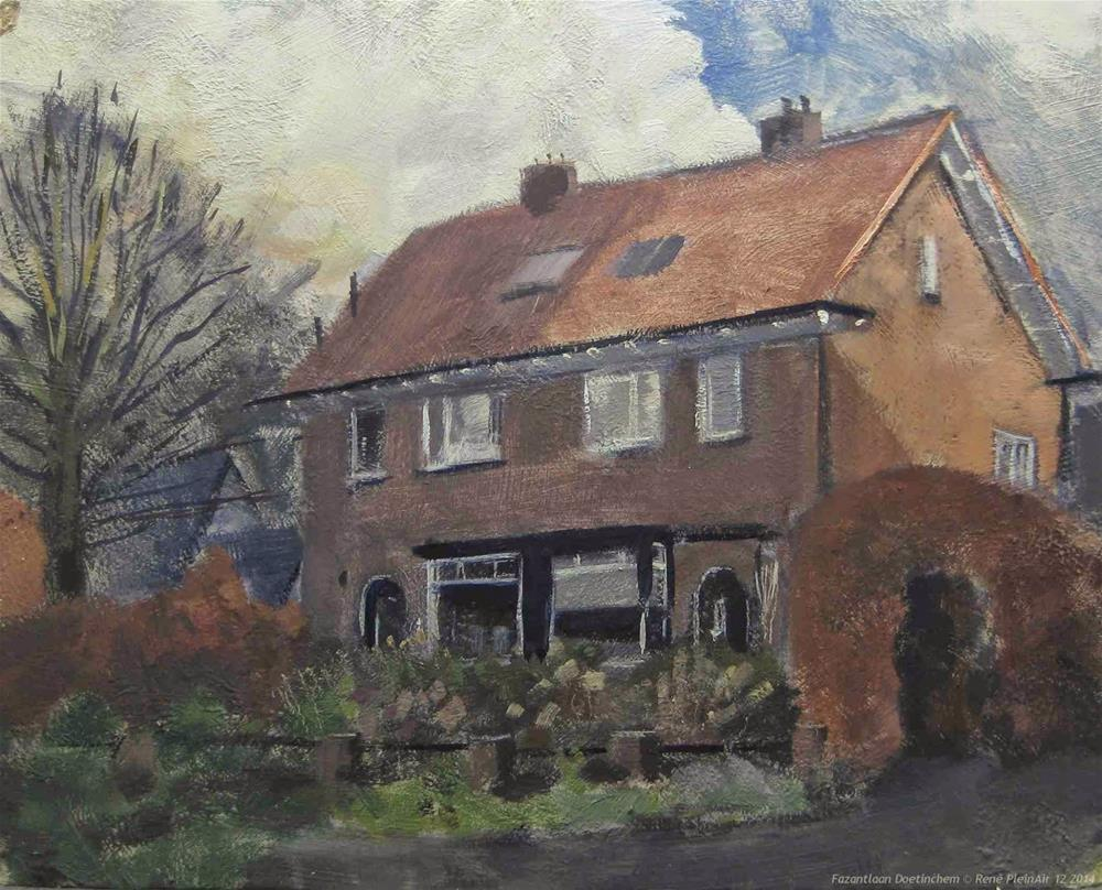 """Between the showers, Doetinchem, The Netherlands"" original fine art by René PleinAir"